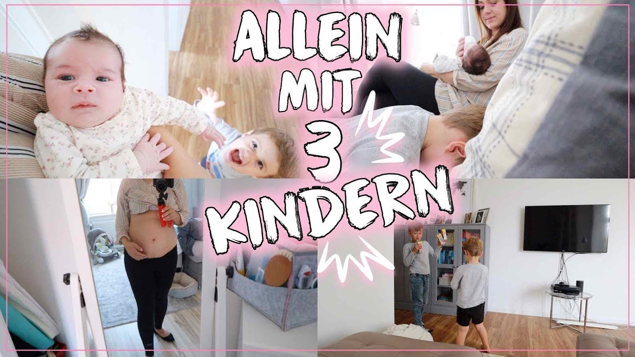 Allein mit Neugeborenem & 2 Kindern 🤪 • Wie ist es mit 3