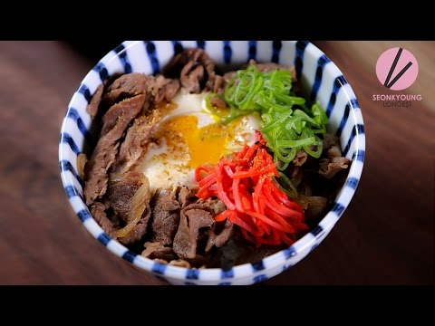 Easy Beef Rice Bowl, Gyudon