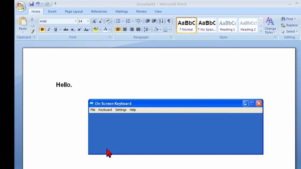 Where can I find the Windows on-screen keyboard