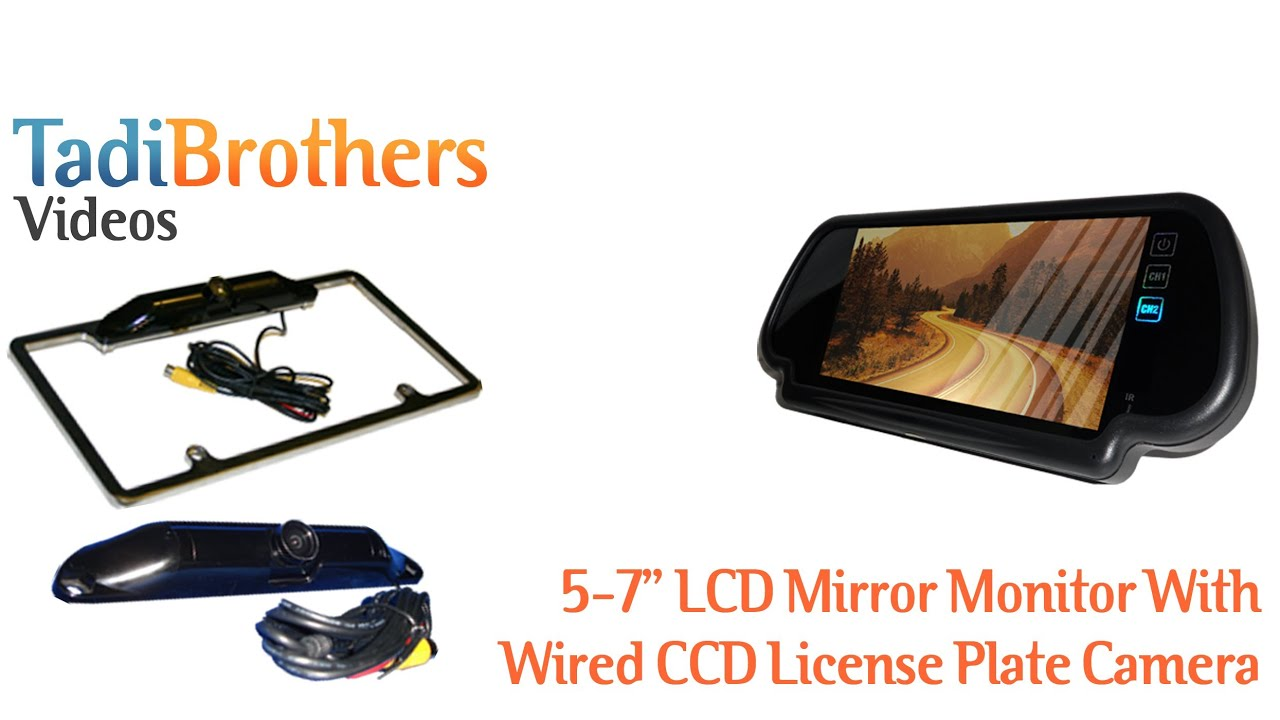 Wired CCD License Plate Camera and Mirror Backup Camera System - YouTube