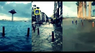 İzmir'de sel: Alsancak'tan şok görüntüler