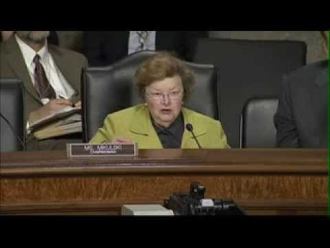 Barbara Mikulski halts NSA hearing to answer a Twitter critic