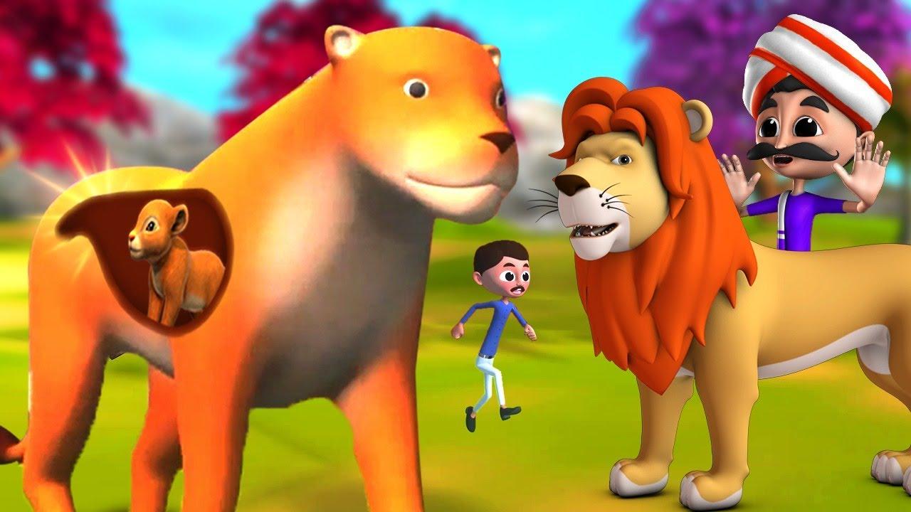 Download గర్భవతి సింహం - Pregnant LION Telugu 3D Moral Short Stories   Telugu Fairy Tales   JOJO TV Stories