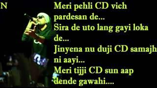 BOHEMIA  Lyrics of 'Desi Putt Jawan' By 'Bohemia'
