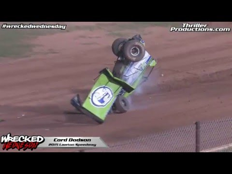 Wrecked Wednesday 2 Cord Dodson at Lawton Speedway 2015