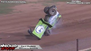 Cord Dodson wrecks at Lawton Speedway