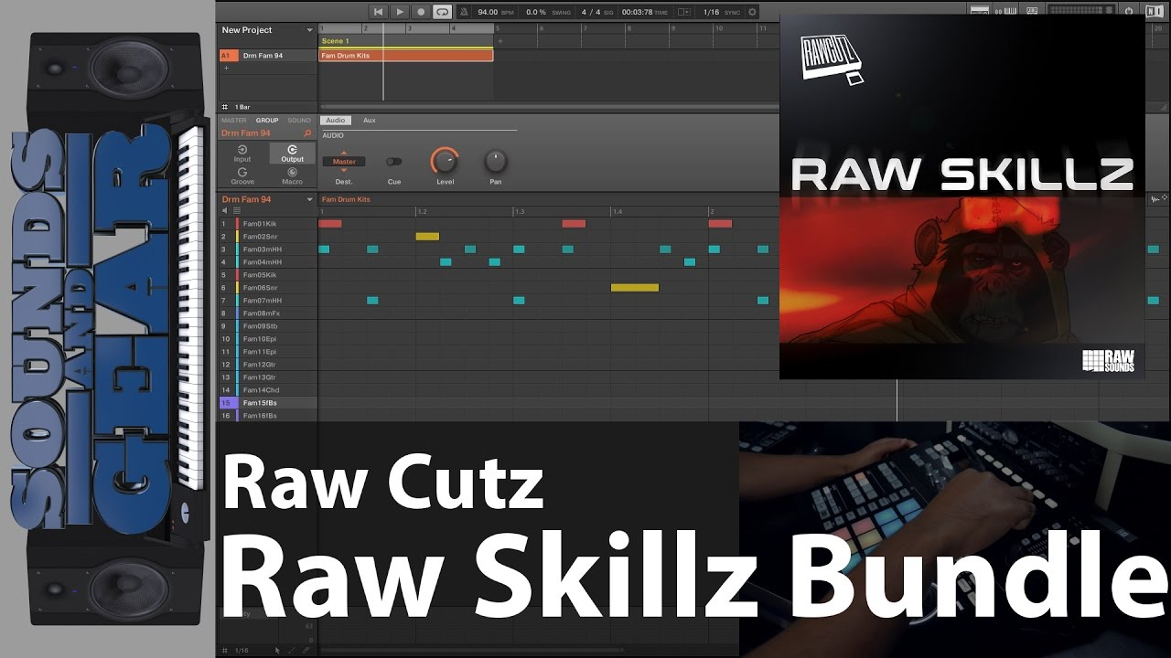 Raw Cutz - Raw Skillz Complete Bundle Demo - Jazzy Hip Hop Kits - Lifetime Updates #1