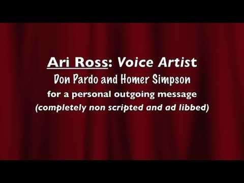 Ari Ross: Voice Artist-Don Pardo and Homer Simpson-Message Machine