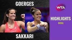Julia Goerges vs. Maria Sakkari | 2020 Doha First Round | WTA Highlights