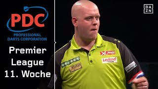 Michael van Gerwen unstoppable, Cross vs Smith im Top-Duell | Highlights | PDC Premier League | DAZN