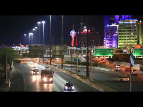 Kuwait City Traffic Cinemagraphy Clip