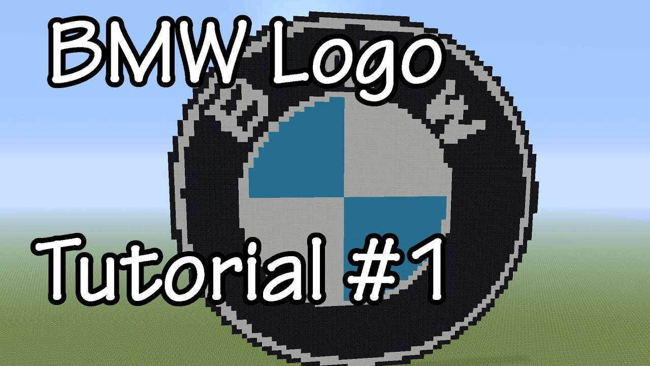 Pixel Art Bmw Logo Tutorial 1 Pixelarttutorials Youtube