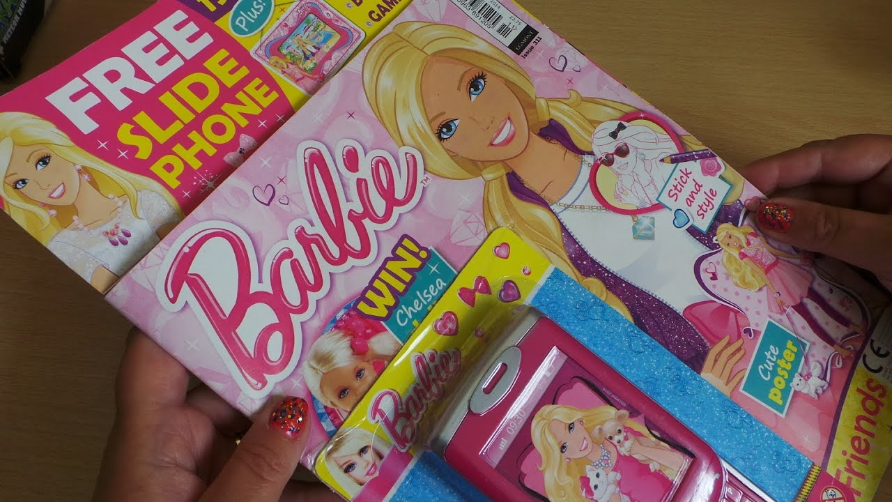 Barbie Toy Phone : Review of latest barbie comic with toy cell phone on the
