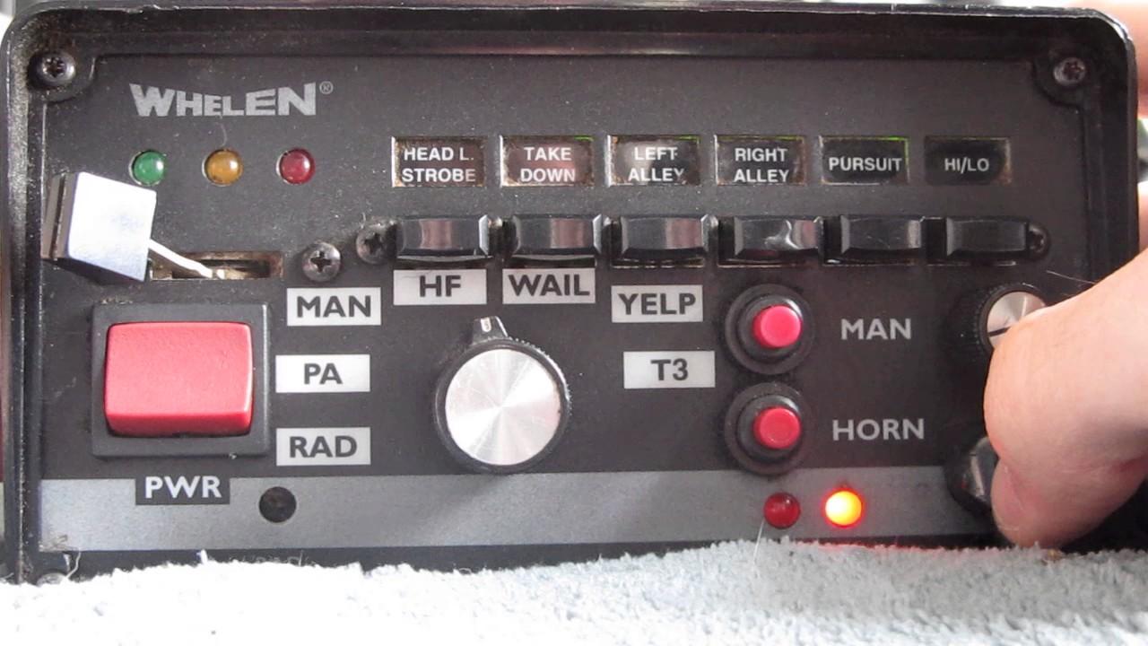 Whelen 295HFSA5 200w Siren Test  YouTube