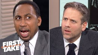 Stephen A. gets hysterical after Max Kellerman's 'blasphemous' Kawhi-LeBron takes | First Take