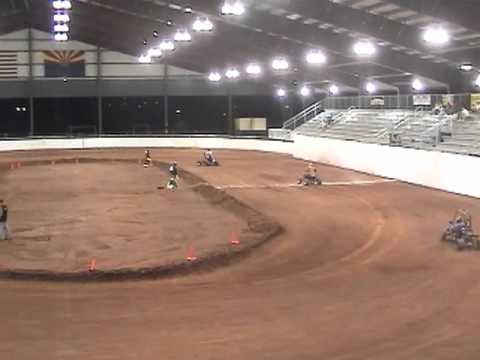 Flat Track Quad Racing Queen Creek Az Youtube