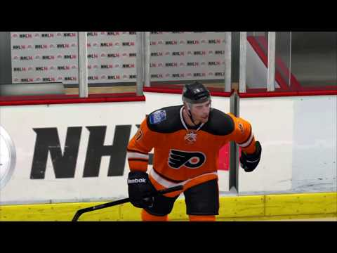 NHL 14 GM Connected | Philadelphia Flyers vs Chicago Blackhawks #1
