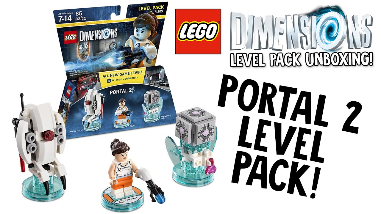 lego dimensions portal 2 level pack unboxing lego set