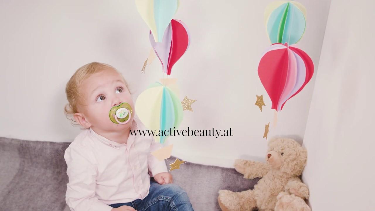 Baby Mobile Selber Machen Mit Bunten Papier Ballons Youtube