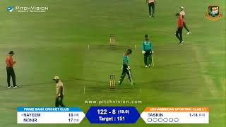 Bangabandhu Dhaka Premier Division T20 Cricket 2019-20 I Prime Bank CC vs Mohammedan Sporting Club