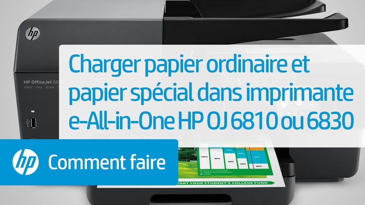 charger papier ordinaire et papier sp cial dans imprimante e all in one hp officejet 6810 ou. Black Bedroom Furniture Sets. Home Design Ideas