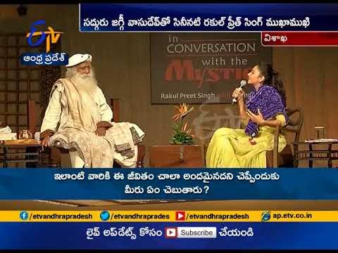 Actress Rakul Preet Interviews with Sadhguru Jaggi vasudev | Gramotsavam | Vizag
