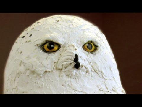 Paper Mache Snowy Owl, Part 2 - Paper Mache Clay