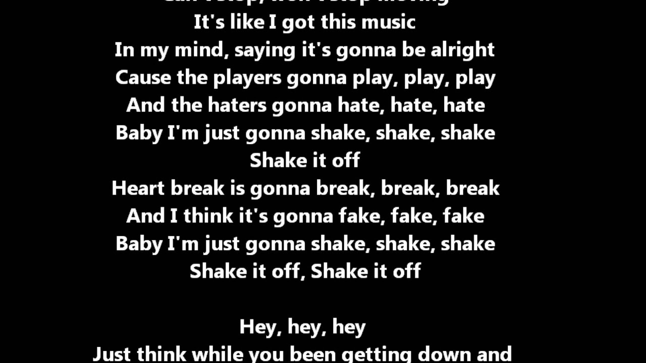 quotshake it off quot taylor swift with lyrics con testo