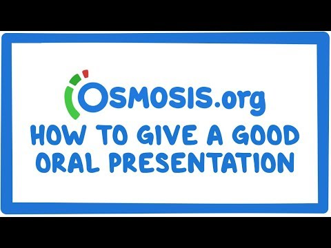 Clinician's Corner: How to give a good oral presentation