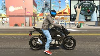 Kawasaki Z1000 ABS - The Crew 2 | Logitech g29 Shifter gameplay