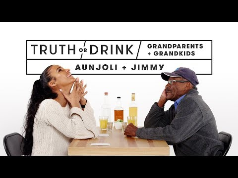Grandparents & Grandkids Play Truth or Drink (Aunjoli & Jimmy) | Truth or Drink | Cut