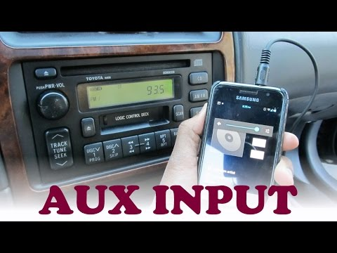 Toyota Auxiliary Stereo Input Hack