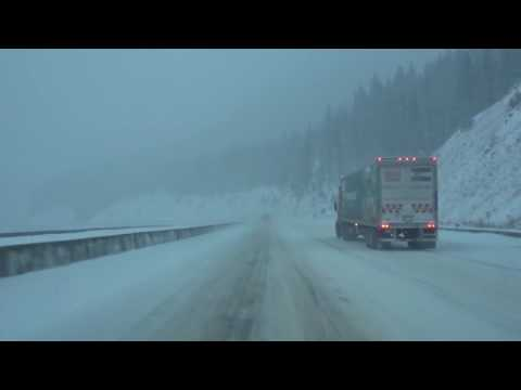 Colorado Winter Driving I-70 At The Eisenhower Tunnel - 11/24/2016