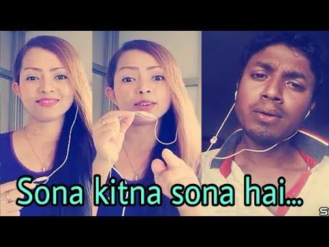 Sona kitna sona hai ( Hero No.1 ) My karaoke 154.