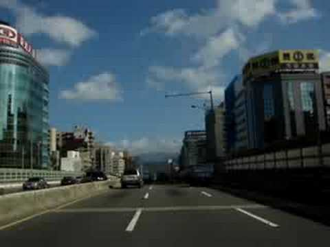 A Drive on  Jianguo Express, Taipei