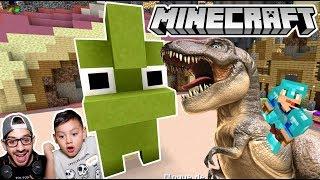 Un Dinosaurio en Minecraft | Minecraft Build Battle #2 | Juegos Karim Juega