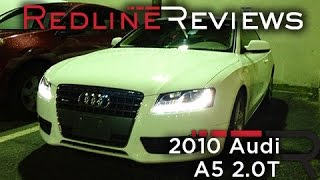 2010 Audi A5 2.0T Review, Walkaround, Start Up, Test Drive