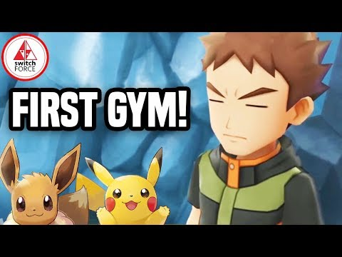 Pokemon Let's Go Pikachu: FIRST GYM GAMEPLAY + NEW DETAILS!