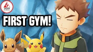 Pokemon Let's Go Pikachu: FIRST GYM GAMEPLAY + GYM DETAILS!