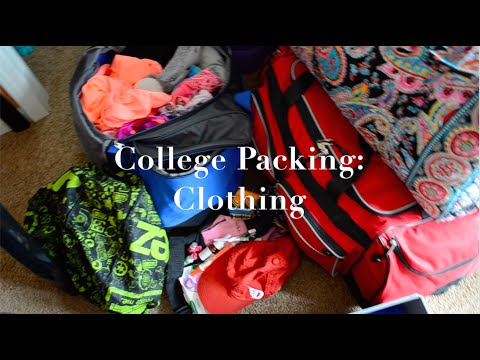 College Packing Vlog - Part 1: Clothing   College Series 2015