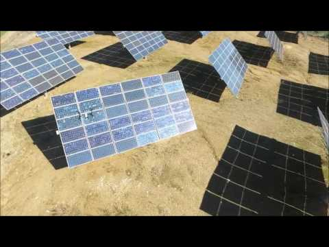 Fault detection in solar power plants with the help of drones