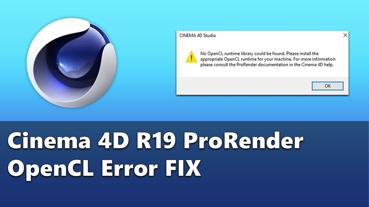Fix for OpenCL library missing from Cinema 4d