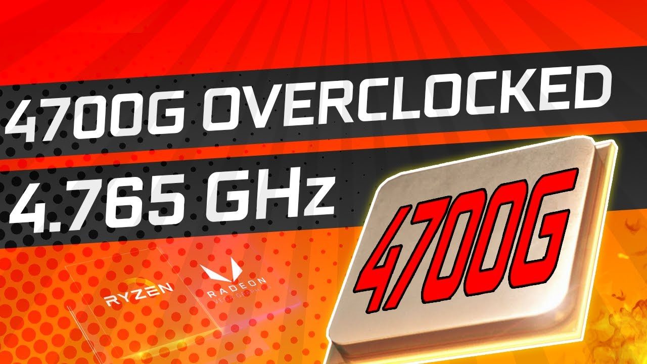 AMD 4700G Overclocked to ALL-CORE 4.765Ghz!  APU Pricing Spotted!