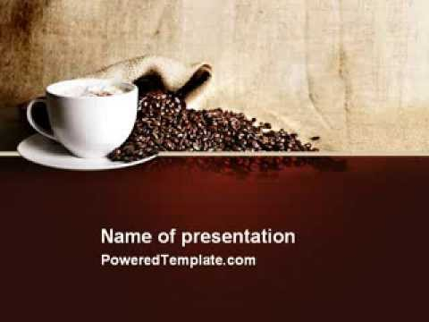 Coffee break with cappuccino powerpoint template by poweredtemplate coffee break with cappuccino powerpoint template by poweredtemplate youtube toneelgroepblik Images
