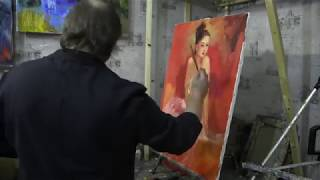 Художник Игорь Сахаров , урок живописи. Фигура в пространстве