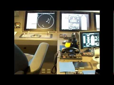 The Bridge on one of the New PX121 Ulstein X-Bow Type Ships.wmv