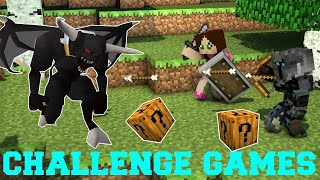 New PopularMMOs Pat and Jen Minecraft: DARK OPAL DEMON CHALLENGE GAMES - Lucky Block Mod