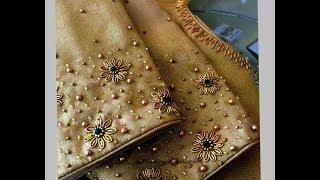 Most Beautiful Zardosi Flower making with Normal Stitching Needle-Same Like AARI/ Maggam Work Blouse