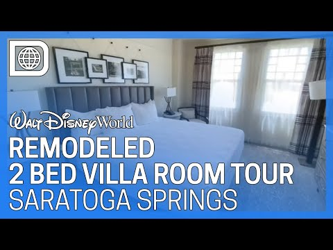 Remodeled 2 Bedroom Villa Room Tour - Disney's Saratoga Springs Resort