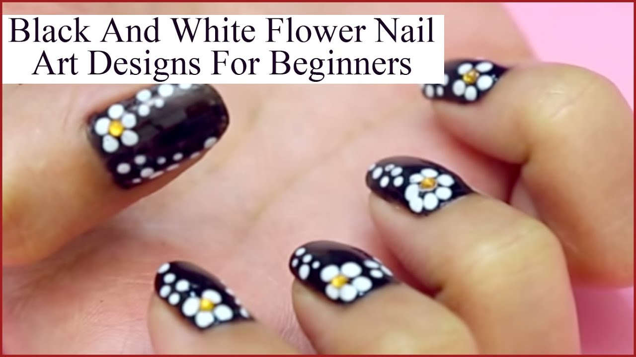 Flower Nail Art Design For Fashionable Nails - YouTube